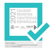 Sello Calidad Revistas Científicas Españolas 2021